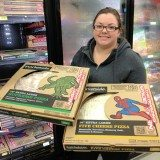 Shopping for Spider-man themed Market Fresh Pizzas at Walmart #cbias
