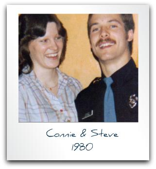 My husband and I 1980 at his gradation from the Fire Academy