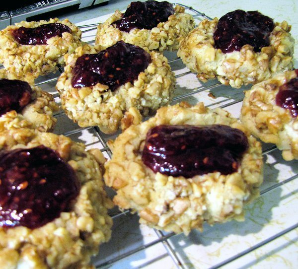 Easy Thumbprint Cookies with Raspberry Jam added after Baking - C & H Light Sugar #CHLight