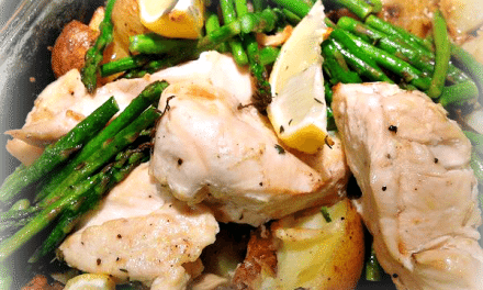 Easy Recipes: Roasted Chicken, Potatoes, Asparagus and Lemon Recipe