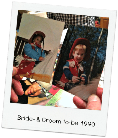 Two different daycares, miles apart, the same photo! Bride- and Groom-to-be 1990