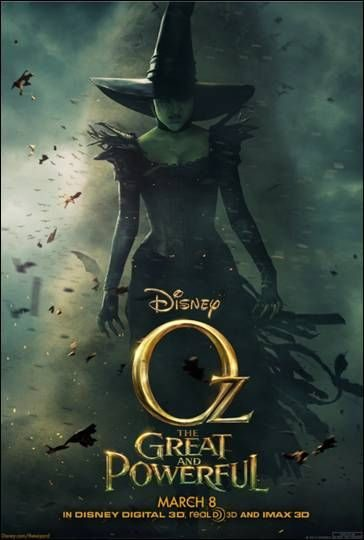 NEW Disney's OZ Great and Powerful Movie Poster
