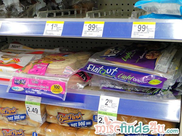 New Flatout Bread on the shelves of Walgreens