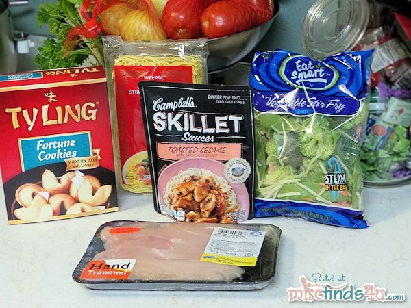 Ingredients for my Asian Skillet dish are assembled and ready