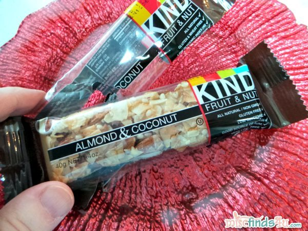 My morning snack - an Almond and Coconut KIND Fruit and Nut Bar