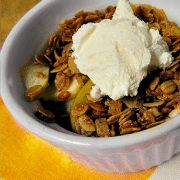 Low Calorie Recipes: Individual Cranberry and Apple Crisp Recipe
