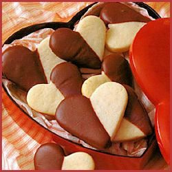 Be My Valentine Heart Shaped Black and White Cookies by Land O Lakes