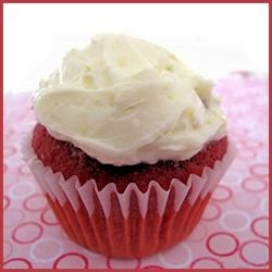 Beet Red Velvet Cupcakes with Orange Buttercream Frosting by thedesertabode
