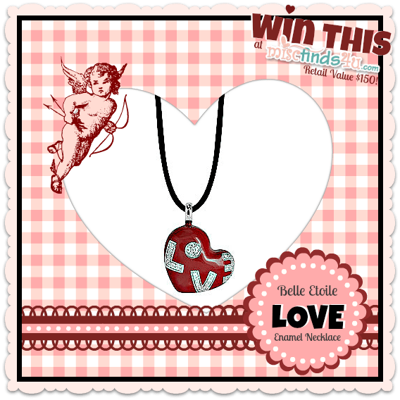Wit this Belle Etoile Love Enamel Necklace from MiscFinds4u and Kranich's Jewelry - $150 Retail Value