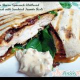 Chicken Bacon Spinach Flatbread Sandwich