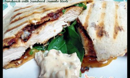 Chicken Bacon Spinach and Sun-dried Tomato Aioli Recipe