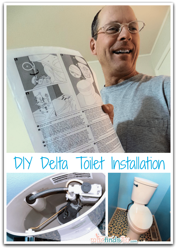 DIY Delta Toilet Installation - The hubby appreciated the easy-to-install fixture