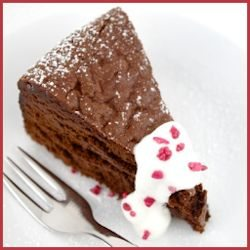 Flourless Chocolate Truffle Torte Recipe by Jamie Schler