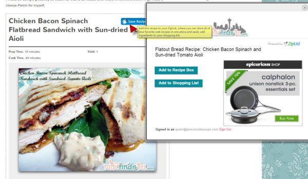 MiscFinds4u Joins Ziplist - Free Online Recipe Box, Menu Planner, and Shopping List Creator