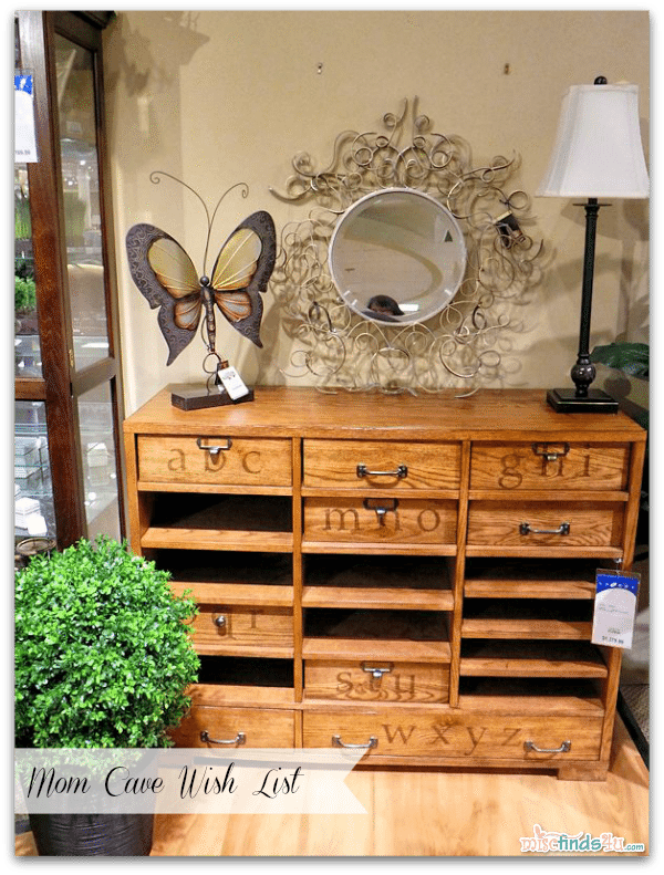 Mom Cave Wish List - Hidden Treasures Printers Cabinet #Cbias #momcave