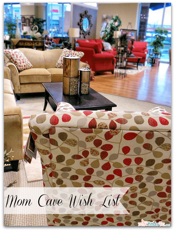 #Cbias #momcave Mom Cave Wish List - Demi Sofa and Love seat in Camel and Bree Stationery Chair covered in Rouge fabric (there are 100's of colors/patterns available for all of these pieces)