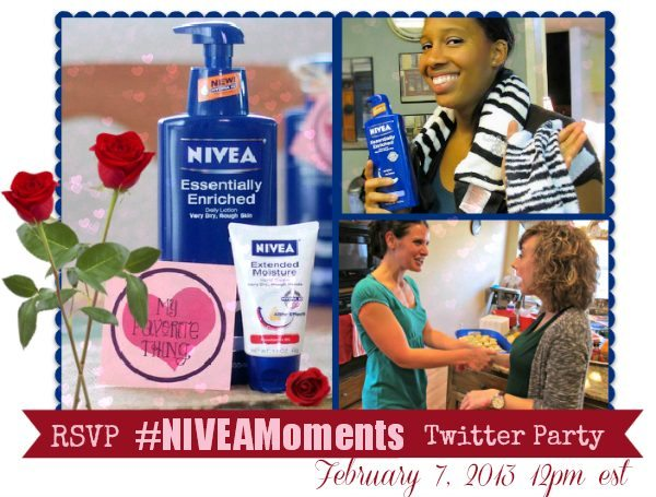 RSVP for the CBIAS, Sam's Club and Nivea Moments February Twitter Party - 2/7/13 12pm EST Prizes!