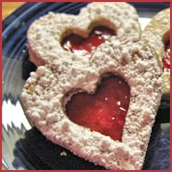 Pecan Linzer Cookies with Lingonberry Filling Recipe by gapersblock