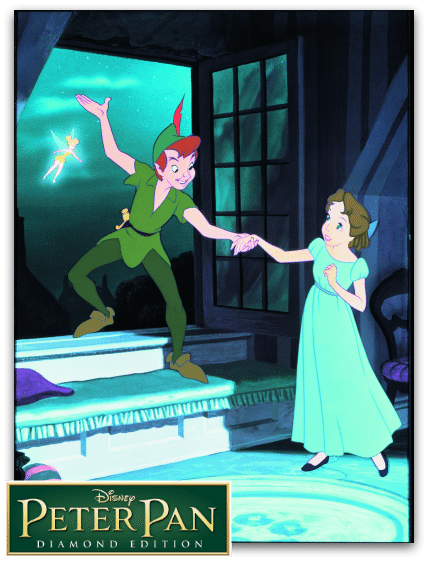 Still photo from Disney's Peter Pan - Peter Pan and Wendy - on Blu-Ray 2/5/13