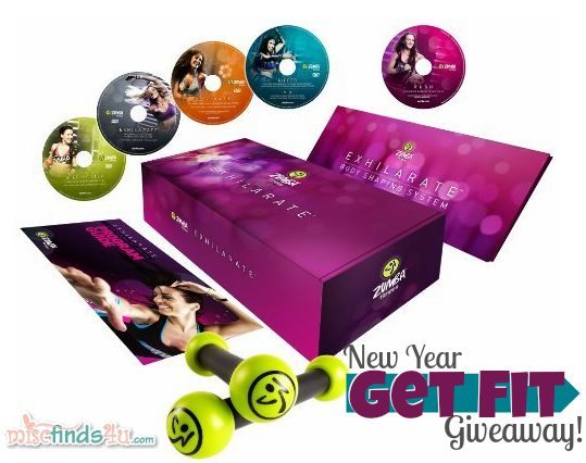 Zumba Fitness Exhilarate Body Shaping System Giveaway #giveaway #win