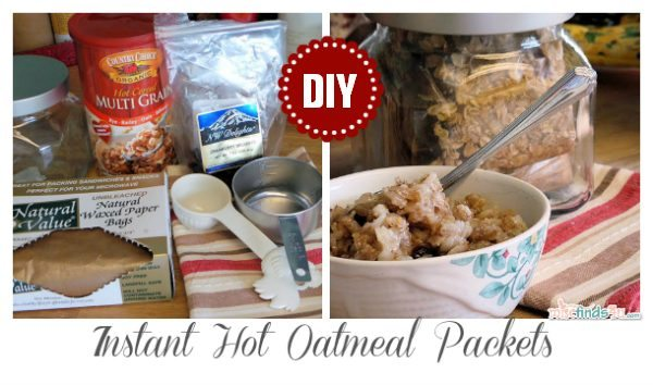 Save money by making your own instant hot cereal packages