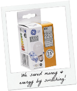 GE Light Bulbs Save Energy – How We're Doing on Our Quest to Save Money #CBIAS