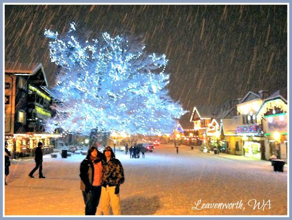The Hubby was warm and toasty - I was freezing! Leavenworth, WA 2012