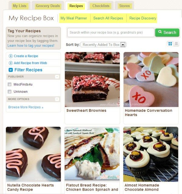 ZipList Free Online Recipe Box Menu Planner Shopping List And More