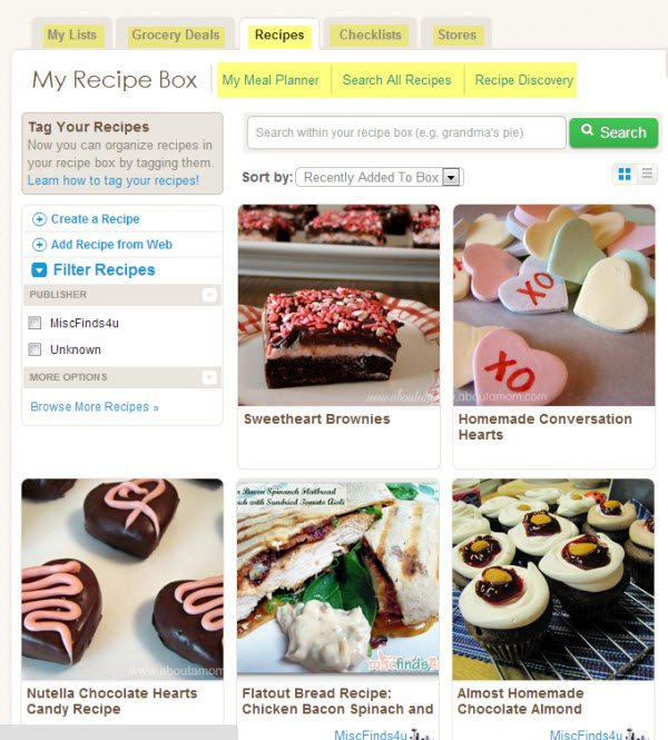 My ZipList Universal Recipe Box - Recipes collected from around the web and saved online