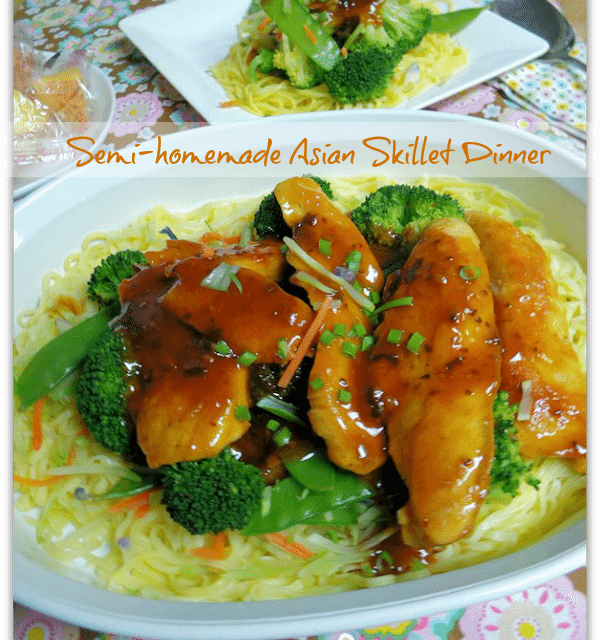 Semi Homemade Recipes Asian Skillet Chicken Dinner In Under 15 Minutes