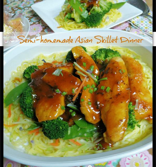 Semi-Homemade Recipes: Asian Skillet Chicken Dinner in Under 15 Minutes