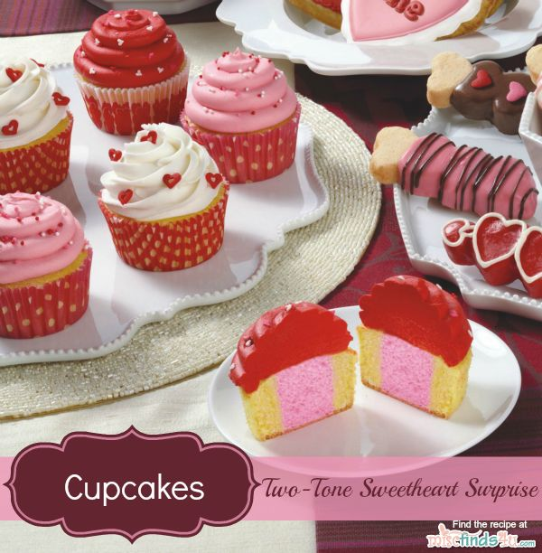 Valentine S Day Recipes Two Tone Cupcakes Decorating Ideas