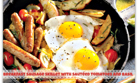 Breakfast Recipes: Sausage Skillet with Sauteed Tomatoes and Basil Recipe
