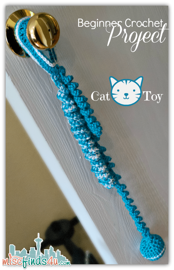 crochet how to beginner cat toy project and free pattern link