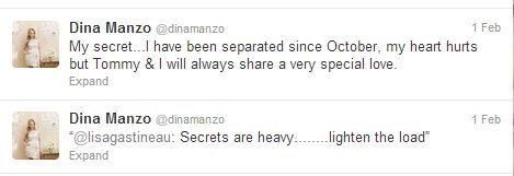 Dina Manso Tweets Breakup