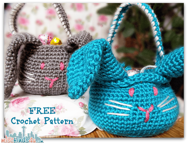 Easter Crochet Patterns For Beginners : Crochet How To: Free Amigurumi Easter Bunny Basket Pattern