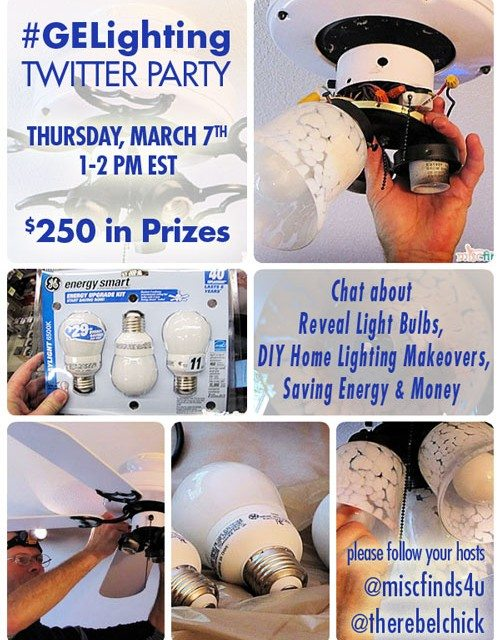 GE Reveal Light Bulbs and DIY Projects Twitter Party 3/7