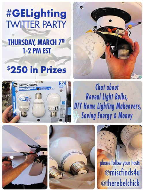 RSVP - GE Reveal Light Bulbs and DIY Projects Twitter Party – 3/7 1-2pm EST Walmart Gift Cards ($250 total!)