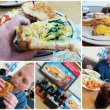 IHOP Griddle Melt Sandwiches Spinach, Roasted Pepper and Cheese and Ham & Egg Melt