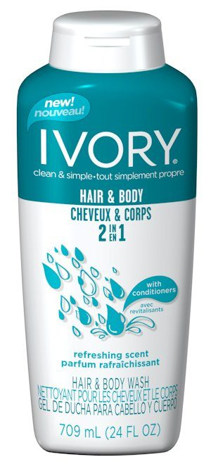 New Ivory 2-IN-1 Hair and Body Wash