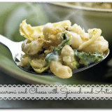 Macaroni and Cheese with Spinach and Artichokes Recipe