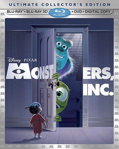 Disney Movies: Monsters Inc Ultimate Collectors Pack 3D Blu-ray Digital Download DVD