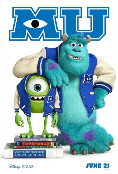 MONSTERS UNIVERSITY arrives in theatres everywhere on June 21, 2013!