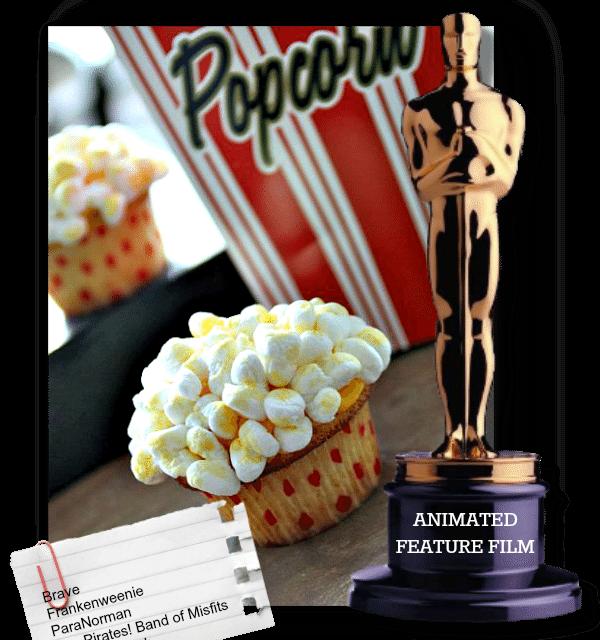 Cupcake Recipe: Oscar Party Popcorn Cream Filled Vanilla Cupcakes