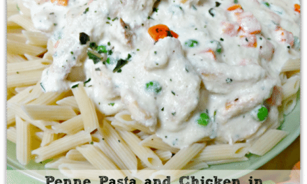 Chicken Recipes: Penne Pasta and Almond Alfredo Sauce