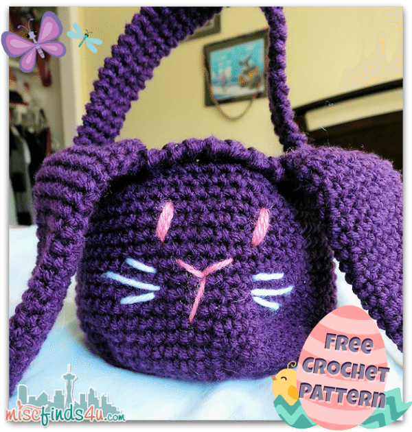 Free Crochet Patterns For Easter Gifts : Free Crochet Bunny Basket Pattern