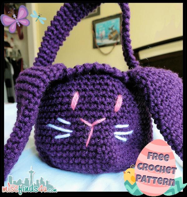 Free Crochet Bunny Basket Pattern