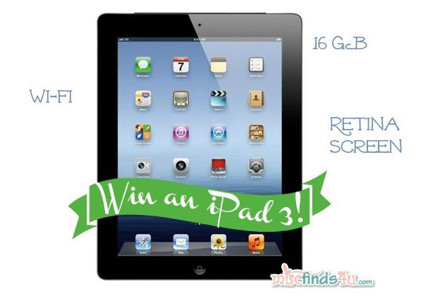 Win an iPad 3 with Retina display 16GB Wi-Fi