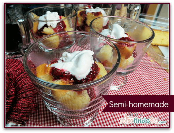 Semi-Homemade Desserts: Lemon Cake and Raspberry Coulis Recipe