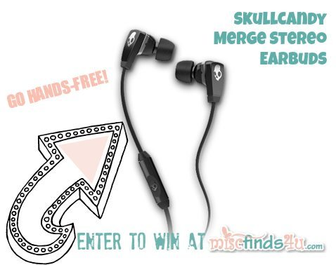 With these Skullcandy Merge Black Earbuds ($30) from AT&T at MiscFinds4u.com